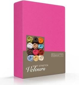 Romanette Luxe Hoeslaken Velours - Fuchsia 180 x 200/220