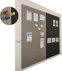 Prikbord bulletin - Wandpaneel - 200x120 cm - Zwart
