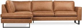 Dimehouse | Hoekbank Tulin links breedte 274 cm x diepte 204 cm x hoogte 85 cm cognac hoekbanken stof, metaal meubels banken | NADUVI outlet
