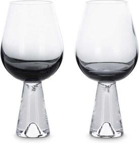 Tom Dixon Tank Wine glas set van 2 zwart
