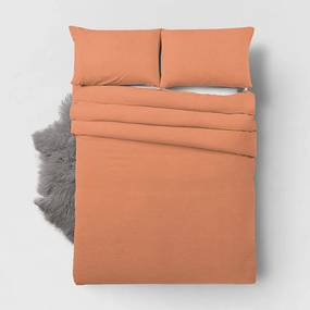 Zensation Bamboo Touch - Pastel Oranje 1-persoons (140 x 200/220 cm + 1 kussensloop)