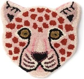 Doing Goods Loony Pink Leopard Head voetenkleed 364x 33 cm