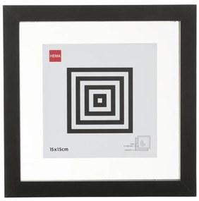 Fotolijst Hout 15x15 - Zwart - Magnetisch