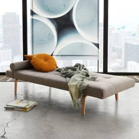 Innovation Living Napper Chaise Longue In Modern Design-521 Grijsbruin - 521-Gebogen Gelakt Eiken - Zonder Frame