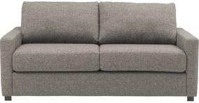 Goossens Bank Lucca Arm Smal grijs, stof, 3-zits, stijlvol landelijk
