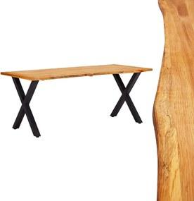 Eettafel 180x90x75 cm massief eikenhout natuurlijk