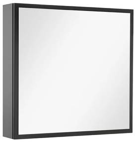 Stock spiegelkast links 60 x 60 cm. black