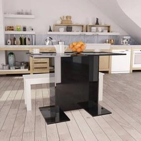 Eettafel 110x60x75 cm spaanplaat hoogglans zwart