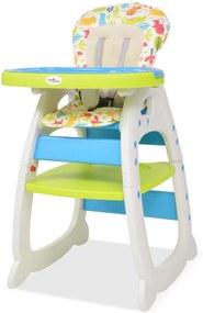 Kinderstoel met blad 3-in-1 verstelbaar blauw en groen