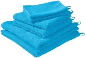 Set van 6 handdoeken Blauw