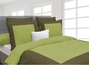 Heckett & Lane dekbedovertrek Lina - groen - 240x220 cm - Leen Bakker