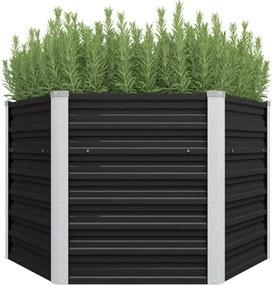 Plantenbak verhoogd 129x129x77cm gegalvaniseerd staal antraciet