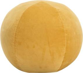 Poef 50x35 cm katoenfluweel geel