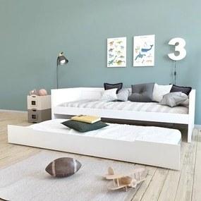 Bedbank Leonard BLN-kids White 90x200 incl. Onderbed