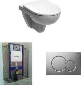 280 Basic toiletset Rimfree met UP320 reservoir/bedieningsplaat mat-chroom