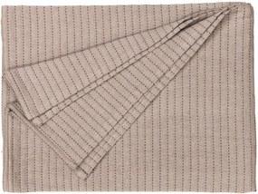 Heckett & Lane bedsprei Tic Tac - beige - 270x260 cm - Leen Bakker