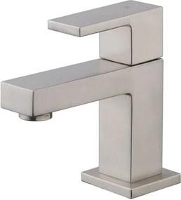 Toiletkraan Rombo Laag Vierkant Geborsteld Staal