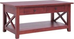 Salontafel 100x55x46 cm massief mahoniehout bruin