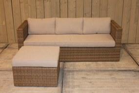 Bari loungeset rattan grey