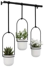 Umbra Triflora plantenhanger 64x110x15cm voor 3 planten polyester wit 1011748-660