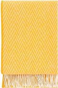 Plaid wol: geel visgraat