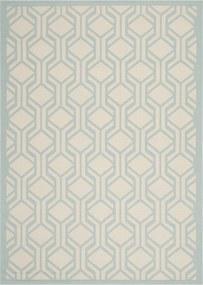 Safavieh | In- & outdoor vloerkleed Catalonia 160 x 230 cm beige, aquablauw vloerkleden polypropyleen vloerkleden & woontextiel | NADUVI outlet