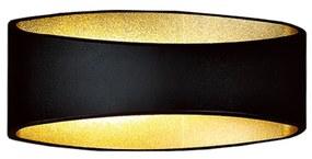 BWS Muurverlichting VG LED Rana Incl. Driver 17.5x8x9cm Aluminium En Glas Zwart En Goud