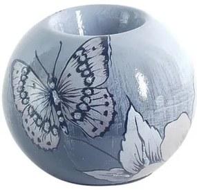 Kandelaars, kaarshouders Multicolour Signes Grimalt  T-Lite Flower-Butterfly