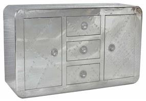 Zilveren Dressoir Van Aluminium - 150x45x90cm.