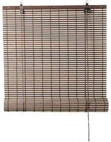 Rolgordijn bamboe - bruin/naturel - 60x180 cm