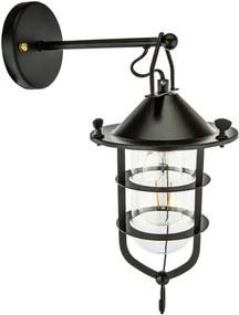 Talmis Industrieel Wandlamp Voor Buiten, Zwart