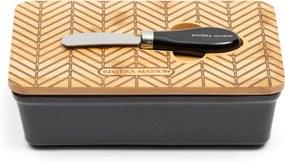 Rivièra Maison - Factory 54 Butter Dish - Kleur: zwart