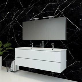 Spiegelkast Pandora 140x60x14cm Aluminium LED Verlichting Stopcontact Binnen en Buiten Spiegel Glazen Planken