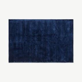 Merkoya luxe viscose vloerkleed 160 x 230cm, middernachtblauw
