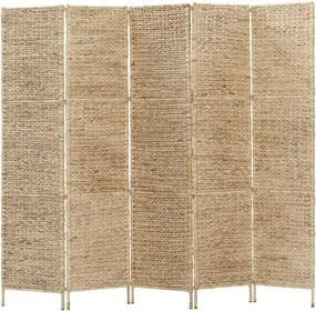 Kamerscherm met 5 panelen 193x160 cm waterhyacint