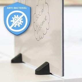 Scheidingsscherm combi whiteboard / prikbord - Incl. bureauklemmen voo