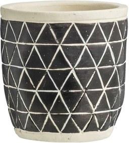 Bloempot Twan II - zwart - 12xØ12 cm - Leen Bakker