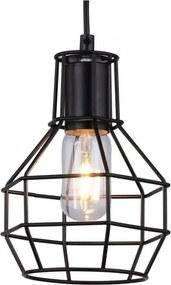 Vintage Hanglamp Zwart Cage Design