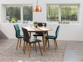 Eethoek Ulfborg Skagen (tafel met 4 stoelen) - grijs/blauw - Leen Bakker