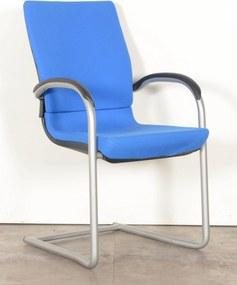 Vergaderstoel 230, blauw, slede frame