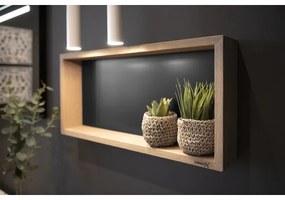 Looox Wooden collection wand box 60x30cm met achterplaat mat zwart eiken mat zwart wbox60mz