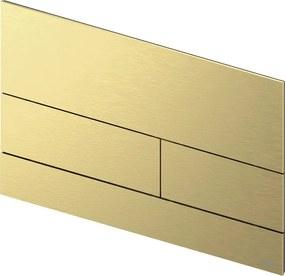 Square 2 bedieningsplaat Geborsteld goud optisch