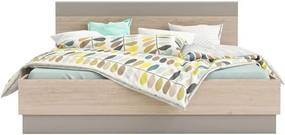 Demeyere bed Graphic - licht eiken - 160x200 cm - Leen Bakker
