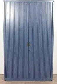 Roldeurkast, blauw, 195 x 120 cm, incl. 4 legborden *ster 2*