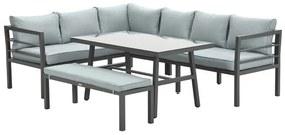 Blakes lounge dining set 4-delig - donker grijs - mint grijs