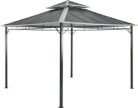 Paviljoen 295x295x265 cm grijs