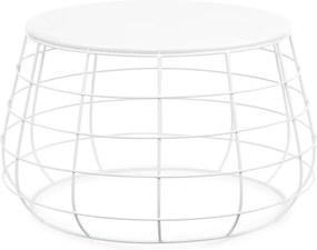 It's About Romi   Bijzettafel Urban Home 1 lengte 58 cm x breedte 58 cm x hoogte 35 cm wit bijzettafels staal meubels tafels   NADUVI outlet