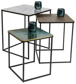 Kare Design Ray Bijzettafelset Metaal - 48 X 48cm.