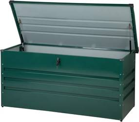 Kussenbox staal donkergroen 132x62 cm CEBROSA