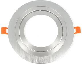 Inbouwspot, Rond, Kantelbaar, AR111, Geborsteld Aluminium